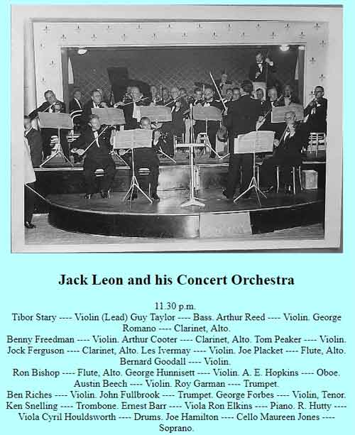 Jack Leon and his Concert Orchestra1955
